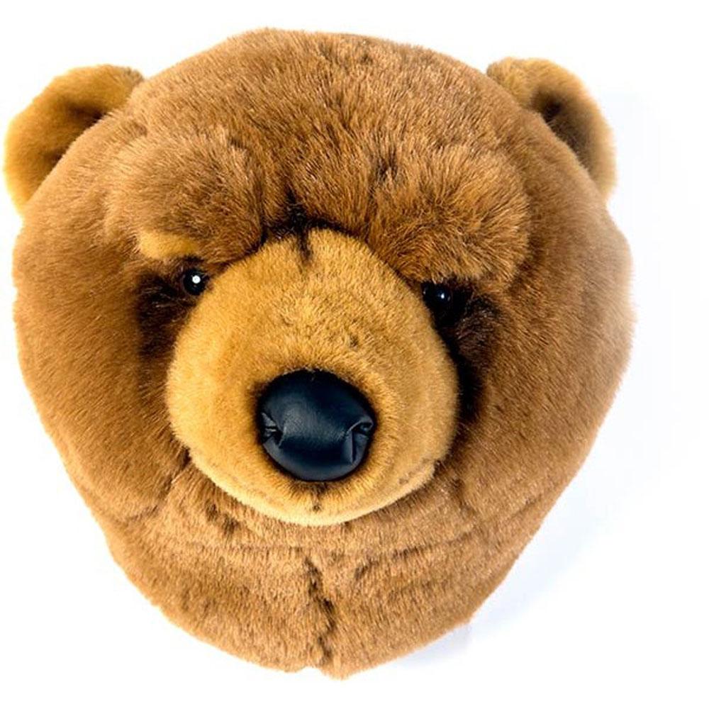 orso bruno bibib trofeo di caccia peluche