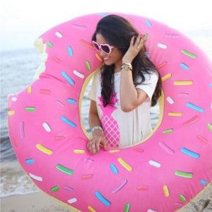 donut gonfiabile rosa goolp