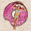 telo mare donut rosa gigante