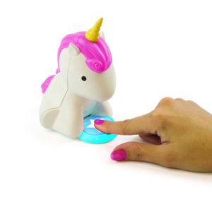 asciugasmalto rosa unicorno