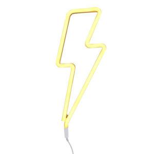 lampada-neon-saetta-gialla