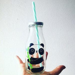 panda-bottiglietta-vetro-cannuccia-goolp