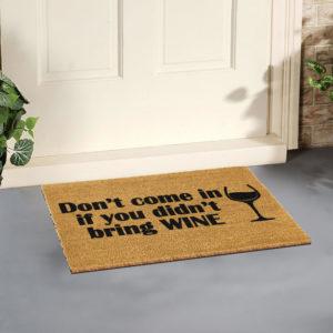 DOORMAT-BRING-WINE-artsy-doormat-goolp