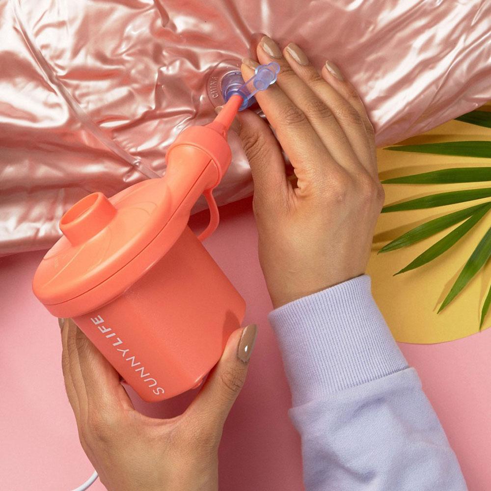 gonfia-materassini-elettrico-rosa