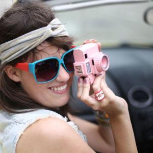 holga digital pink vintage goolp