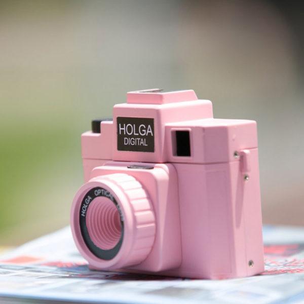 holga digital rosa vintage