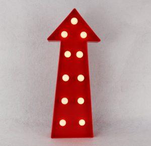 freccia-lampada-led-rossa-circus-light-goolp-vintage