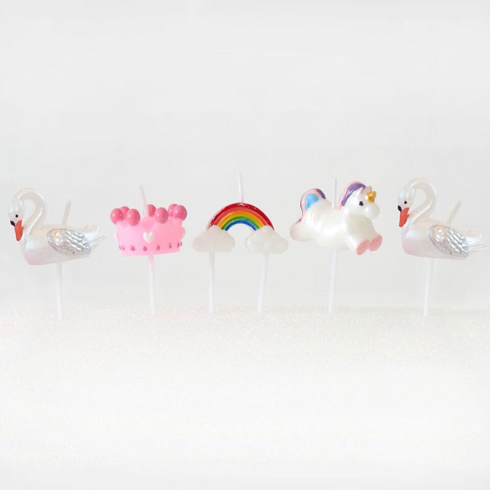 candeline-fairy-tales-fiaba-cigno-arcobaleno-unicorno-party