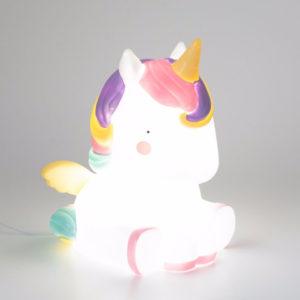lampada unicorno arcobaleno