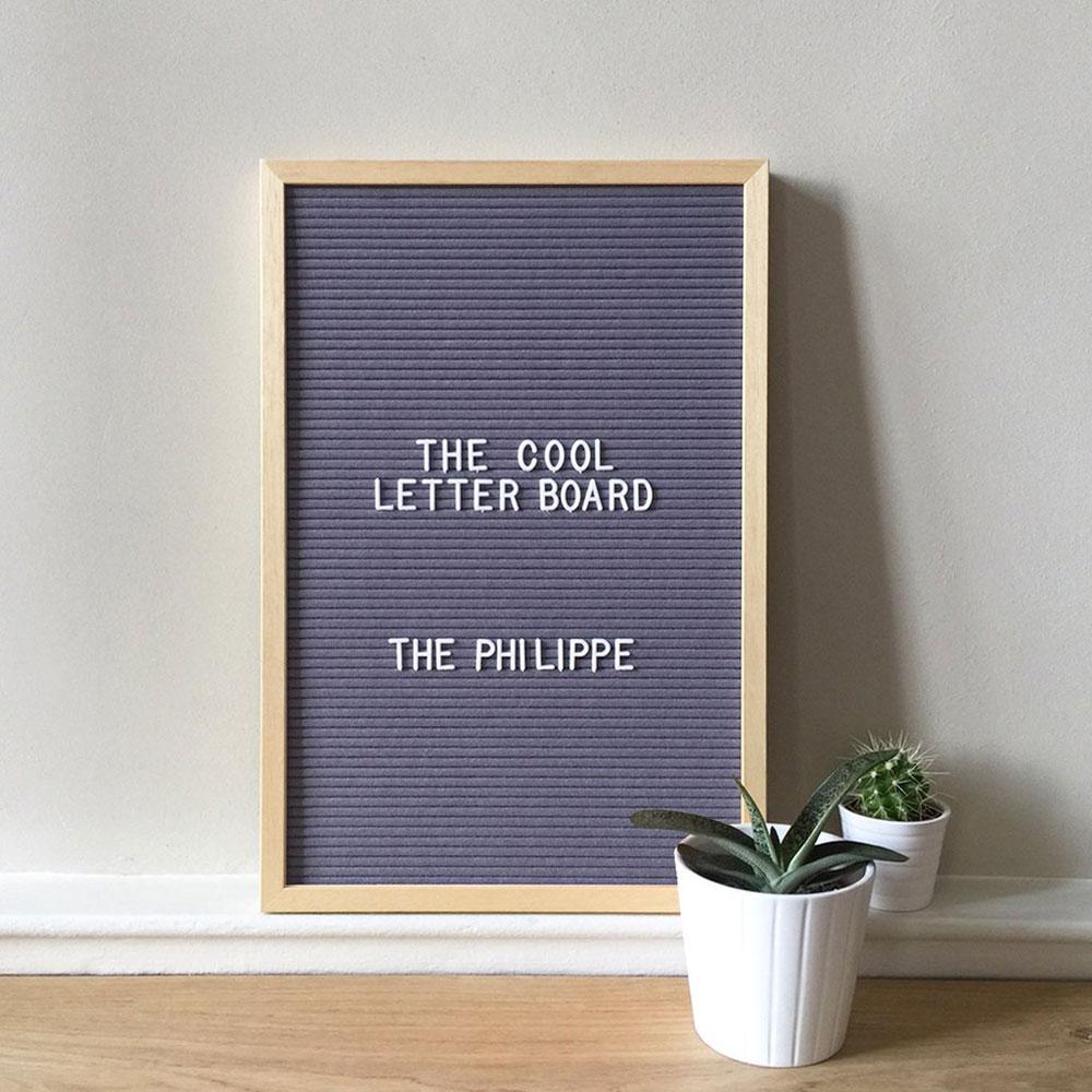 letter board maxi grigio