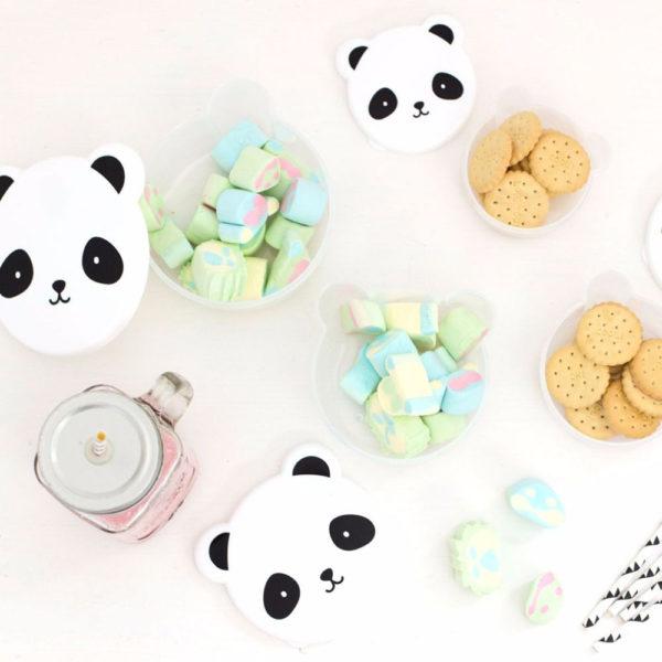 4 panda snack box lovely company