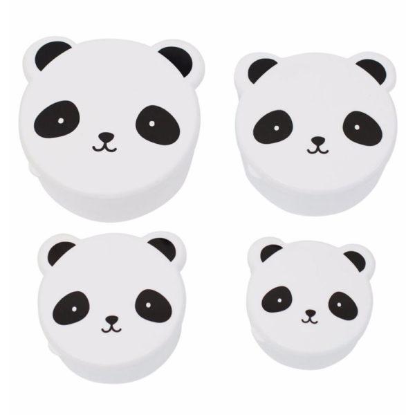 4 panda snack box portapranzo