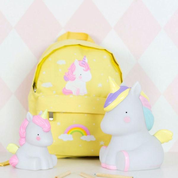 lampada unicorno rosa