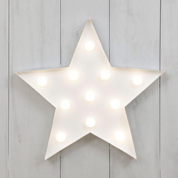 lampada stella bianca