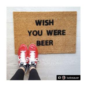 Zerbino Wish You Were Beer in Cocco Naturale per l'Ingresso di Casa