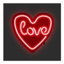lampada cuore love rossa neon goolp