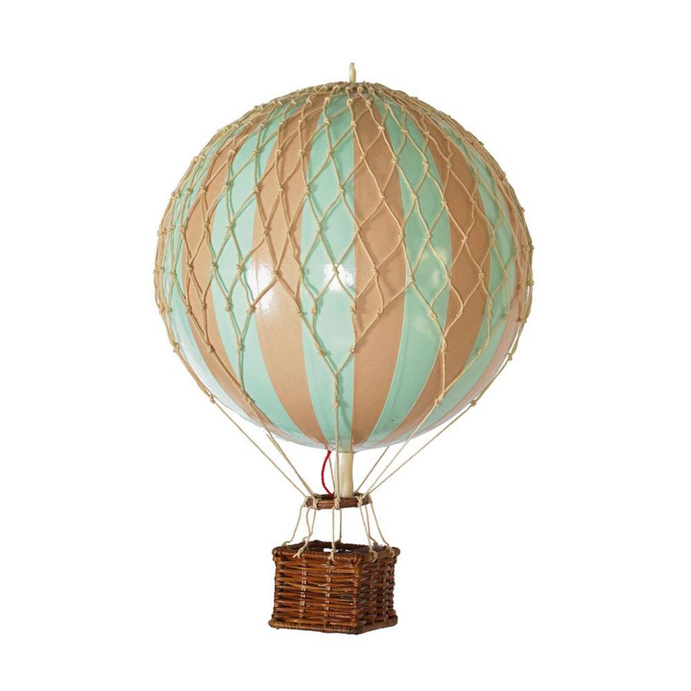 mongolfiera turchese tiffany decorativa goolp