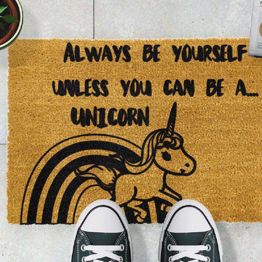 zerbino unicorno artsy doormats goolp