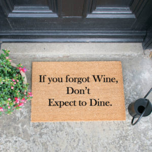 zerbino vino forgot wine artsy doormats