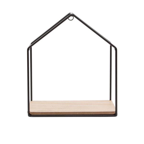 mensola casetta ferro legno scaffale