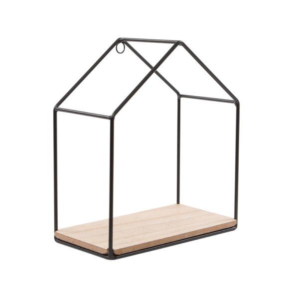 mensola casetta scaffale legno ferro