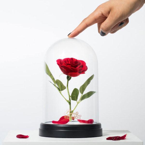 lampada rose beauty and the beast disney