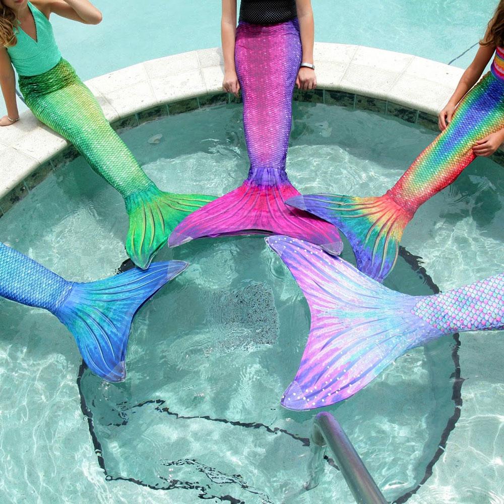 Xyfushi Coda da sirena per nuoto con monopinna