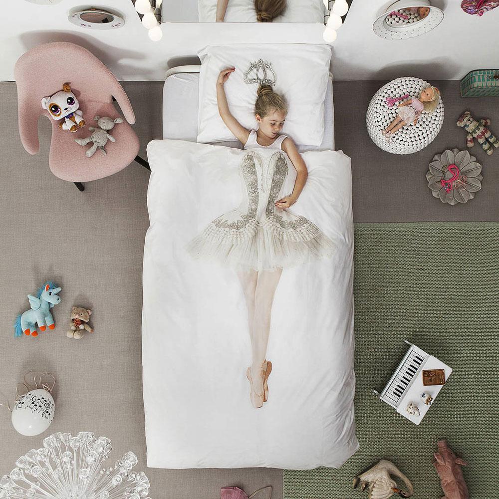 Copripiumino ballerina snurk bedding set con federa letto singolo italiano - Copripiumino letto singolo ...