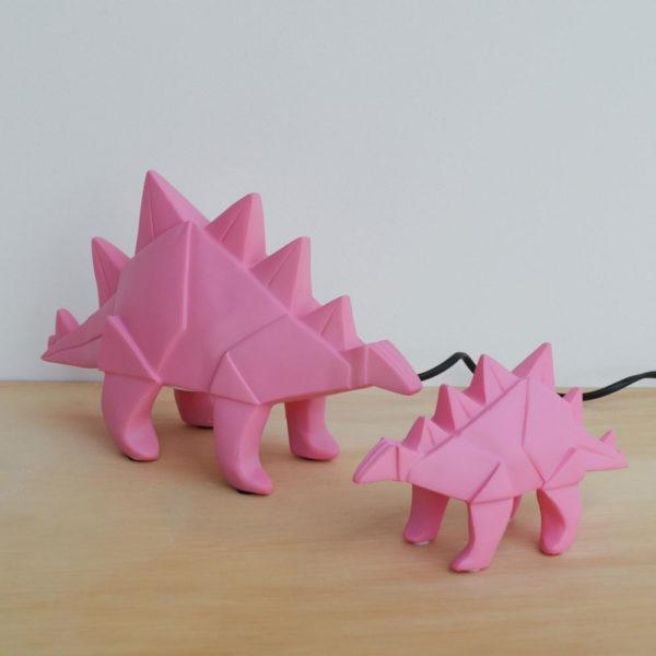 lampada-dinosauro-rosa-stegosauro-origami-goolp